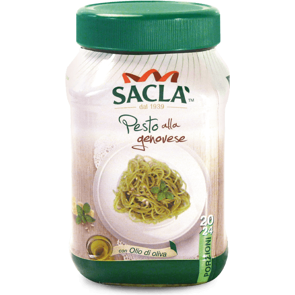 Pesto aus Basilikum mit Olivenöl (Catering)