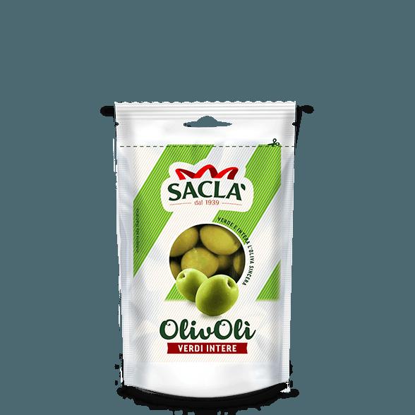 Ganze grüne Oliven in Salzlake (185g)