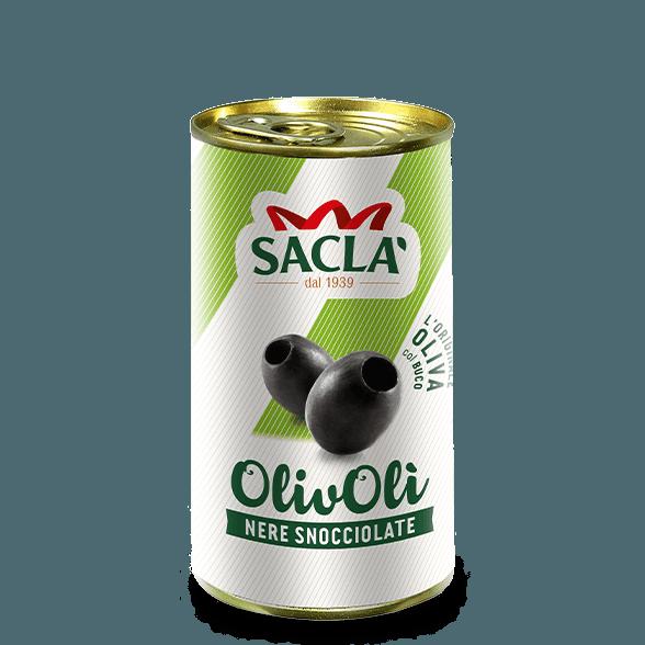 Entkernte schwarze Oliven in Salzlake (330g)